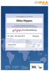 Zertifikat Yin Yoga Grundausbildung