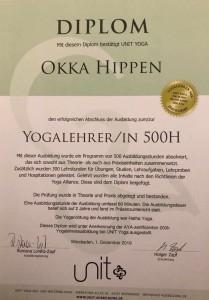 Diplom Yogalehrerin 500 Stunden
